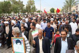 حضور پرشور مردم بندرلنگه در راهپیمایی دشمن شکن ۲۲ بهمن