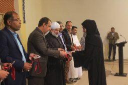 فرماندار شهرستان بندرلنگه در مراسم تجلیل از دانش آموزان و دانشجویان ممتاز روستای گزیر