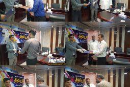 مراسم تجلیل و تقدیر از پرسنل کارگری شهرداری بندرلنگه بمناسبت ۱۱ اردیبهشت ماه آغاز هفته کار و کارگر