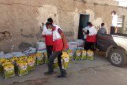 توزیع ۱۰۰ بسته معیشتی توسط هلال احمر شهرستان بندر لنگه