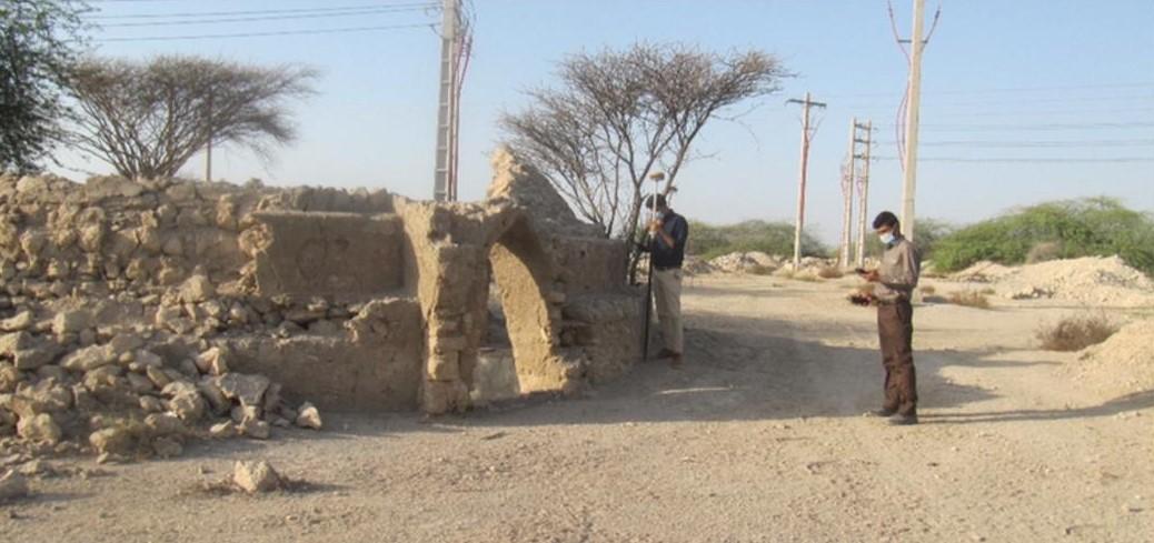 برداشت نقاط ثابت پلاک روستای بردغون شرقی در شهرستان بندرلنگه