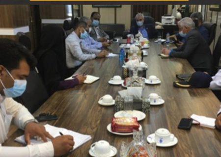 دیدار اعضای شورای جدید شهرستان بندرلنگه با مدیریت بنادر و دریانوردی غرب هرمزگان